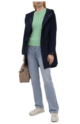 Женский хлопковый пуловер POLO RALPH LAUREN зеленого цвета, арт. 211580009 | Фото 2