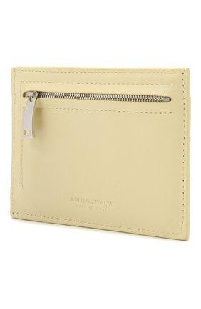 Женский кожаный футляр для кредитных карт BOTTEGA VENETA бежевого цвета, арт. 635043/VCPP3 | Фото 2
