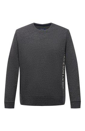 Мужской свитшот POLO RALPH LAUREN серого цвета, арт. 714830291 | Фото 1 (Материал внешний: Хлопок, Синтетический материал; Длина (для топов): Стандартные; Рукава: Длинные; Кросс-КТ: домашняя одежда; Принт: Без принта; Мужское Кросс-КТ: свитшот-одежда)