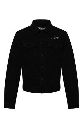 Мужская джинсовая куртка OFF-WHITE черного цвета, арт. 0MYE054S21DEN001 | Фото 1 (Стили: Спорт-шик; Длина (верхняя одежда): Короткие; Материал внешний: Хлопок; Рукава: Длинные; Кросс-КТ: Деним, Куртка)