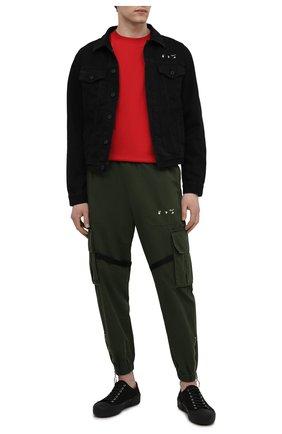 Мужская джинсовая куртка OFF-WHITE черного цвета, арт. 0MYE054S21DEN001 | Фото 2 (Стили: Спорт-шик; Длина (верхняя одежда): Короткие; Материал внешний: Хлопок; Рукава: Длинные; Кросс-КТ: Деним, Куртка)