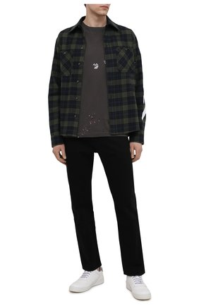 Мужская хлопковая футболка OFF-WHITE темно-серого цвета, арт. 0MAA027S21JER002 | Фото 2