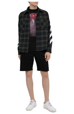Мужская хлопковая футболка OFF-WHITE черного цвета, арт. 0MAA027S21JER010 | Фото 2