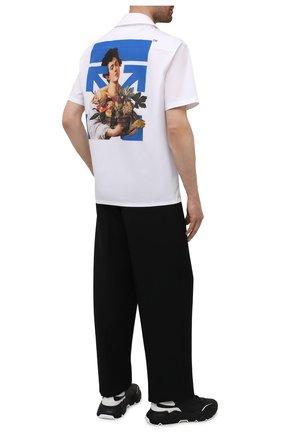 Мужская хлопковая рубашка OFF-WHITE белого цвета, арт. 0MGA163S21FAB008 | Фото 2
