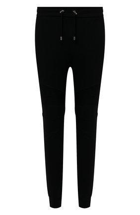 Мужские хлопковые джоггеры BALMAIN черного цвета, арт. VH00B000/B028 | Фото 1
