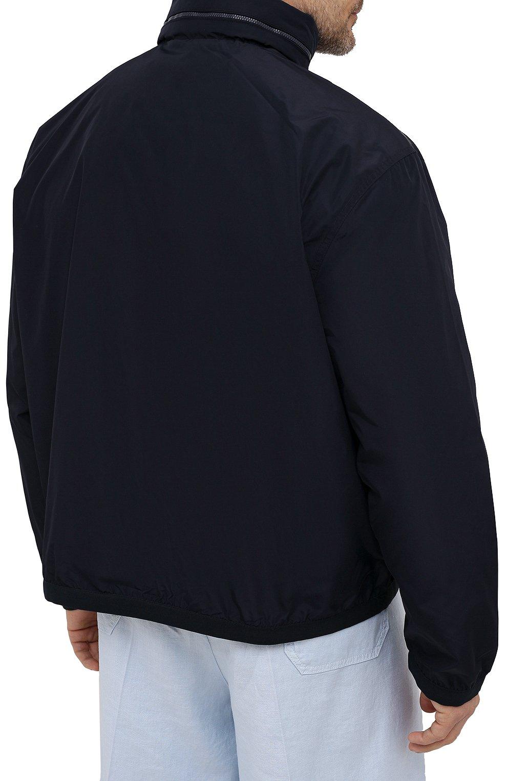Мужской бомбер POLO RALPH LAUREN темно-синего цвета, арт. 711777217/PRL BS | Фото 4 (Кросс-КТ: Куртка; Big sizes: Big Sizes; Рукава: Длинные; Принт: Без принта; Материал внешний: Синтетический материал; Материал подклада: Синтетический материал; Длина (верхняя одежда): Короткие; Стили: Кэжуэл)