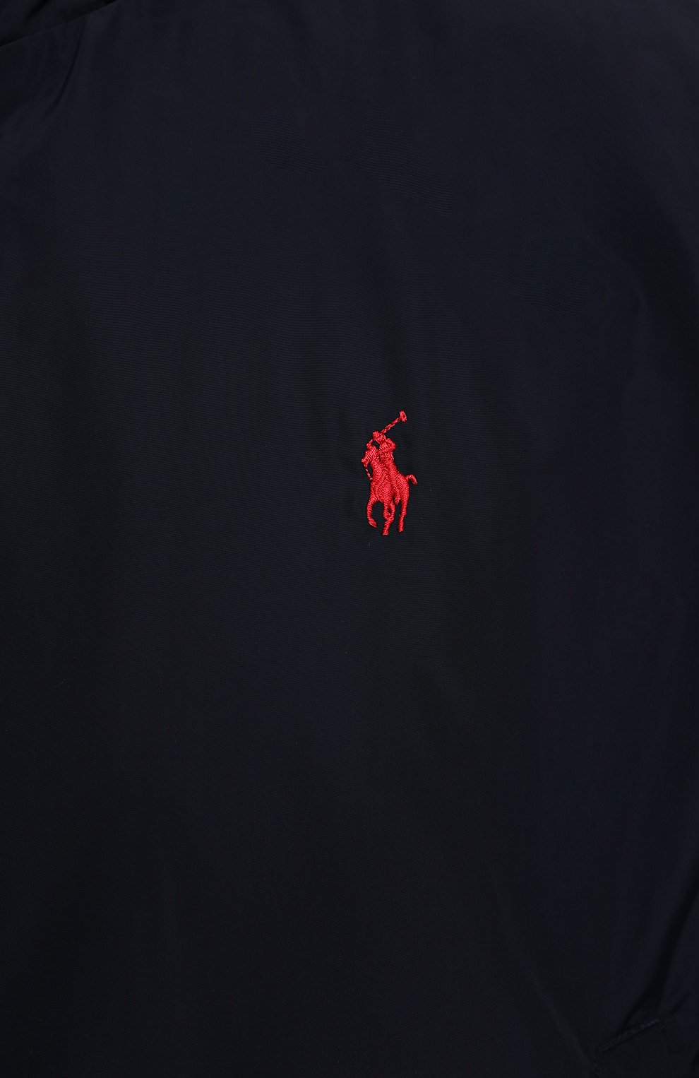 Мужской бомбер POLO RALPH LAUREN темно-синего цвета, арт. 711777217/PRL BS | Фото 5 (Кросс-КТ: Куртка; Big sizes: Big Sizes; Рукава: Длинные; Принт: Без принта; Материал внешний: Синтетический материал; Материал подклада: Синтетический материал; Длина (верхняя одежда): Короткие; Стили: Кэжуэл)