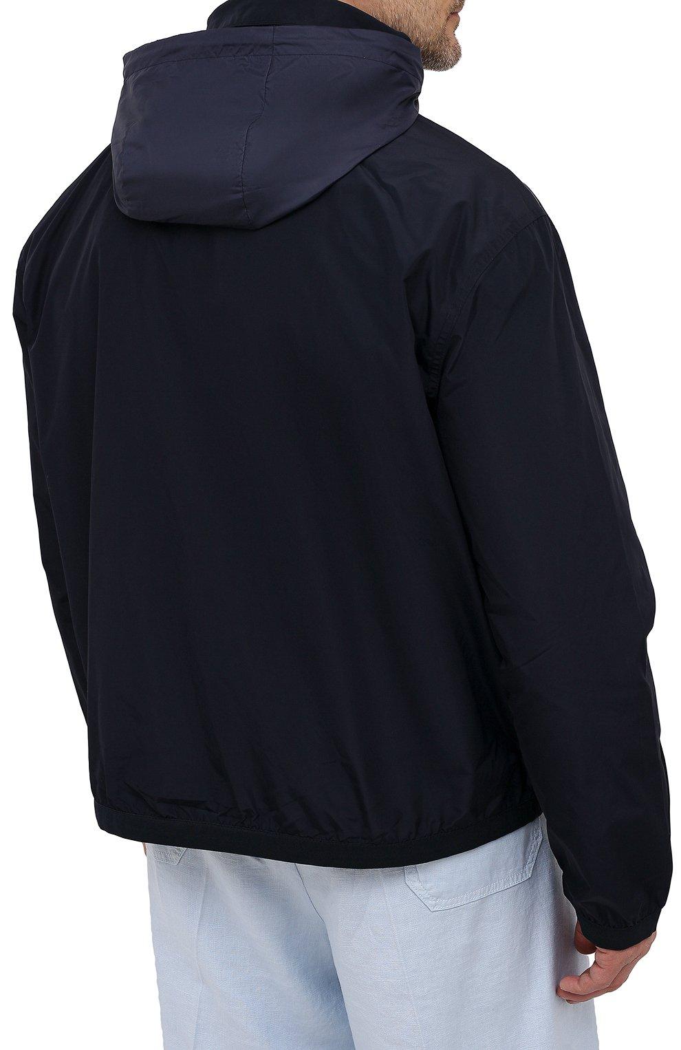Мужской бомбер POLO RALPH LAUREN темно-синего цвета, арт. 711777217/PRL BS | Фото 6 (Кросс-КТ: Куртка; Big sizes: Big Sizes; Рукава: Длинные; Принт: Без принта; Материал внешний: Синтетический материал; Материал подклада: Синтетический материал; Длина (верхняя одежда): Короткие; Стили: Кэжуэл)