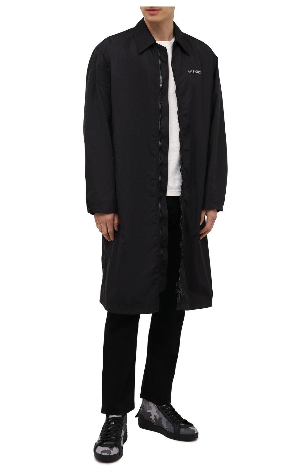 Мужские текстильные кеды portofino light DOLCE & GABBANA серого цвета, арт. CS1866/A0231 | Фото 2