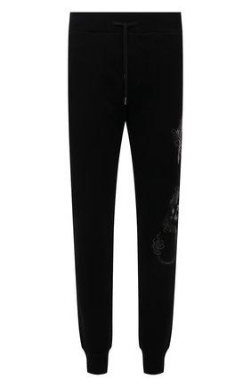 Мужские хлопковые джоггеры RH45 черного цвета, арт. JP09-I | Фото 1 (Мужское Кросс-КТ: Брюки-трикотаж; Длина (брюки, джинсы): Стандартные; Материал внешний: Хлопок; Стили: Спорт-шик; Силуэт М (брюки): Джоггеры)