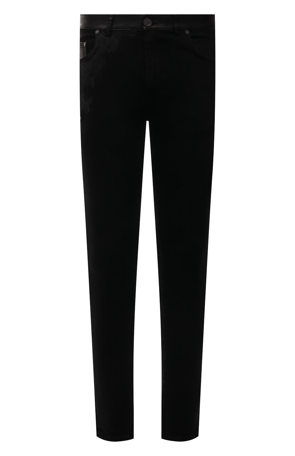 Мужские джинсы RH45 черного цвета, арт. JD07 | Фото 1 (Силуэт М (брюки): Узкие; Кросс-КТ: Деним; Длина (брюки, джинсы): Стандартные; Стили: Гранж; Материал внешний: Хлопок)