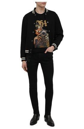 Мужские джинсы RH45 черного цвета, арт. JD07 | Фото 2