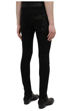 Мужские джинсы RH45 черного цвета, арт. JD07 | Фото 4 (Силуэт М (брюки): Узкие; Кросс-КТ: Деним; Длина (брюки, джинсы): Стандартные; Стили: Гранж; Материал внешний: Хлопок)