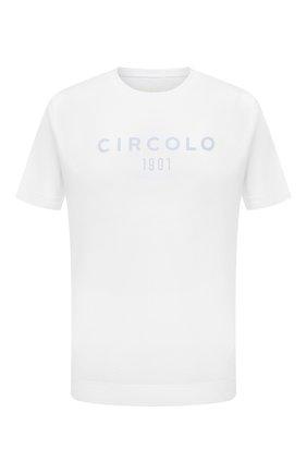 Мужская хлопковая футболка CIRCOLO 1901 голубого цвета, арт. CN2981 | Фото 1