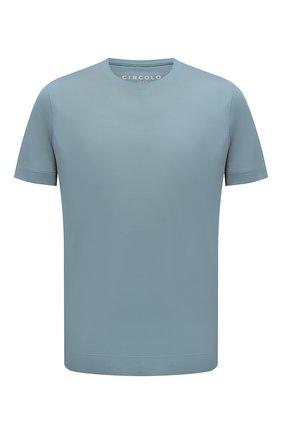 Мужская хлопковая футболка CIRCOLO 1901 голубого цвета, арт. CN2966 | Фото 1
