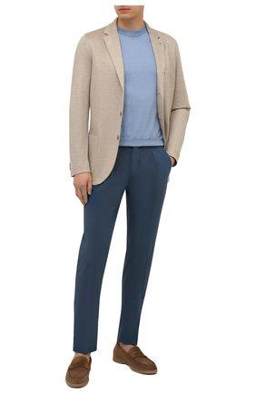 Мужские хлопковые брюки ALTEA темно-синего цвета, арт. 2153022 | Фото 2