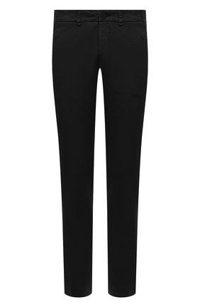 Мужские хлопковые брюки TRANSIT черного цвета, арт. CFUTRNA100 | Фото 1