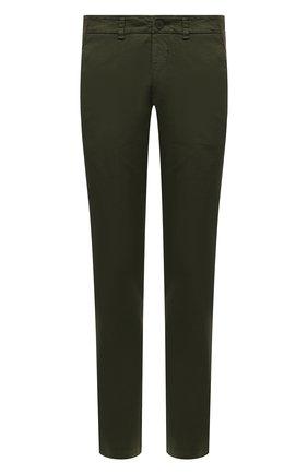Мужские хлопковые брюки TRANSIT хаки цвета, арт. CFUTRNA100 | Фото 1