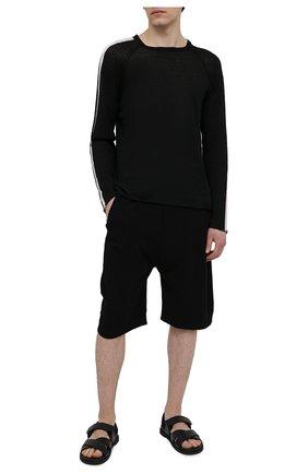 Мужской льняной джемпер TRANSIT черного цвета, арт. CFUTRN15500 | Фото 2