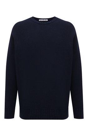 Мужской хлопковый свитер ACNE STUDIOS темно-синего цвета, арт. B60182 | Фото 1