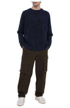 Мужской хлопковый свитер ACNE STUDIOS темно-синего цвета, арт. B60182 | Фото 2