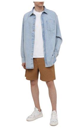 Мужские хлопковые шорты ACNE STUDIOS бежевого цвета, арт. BE0065   Фото 2