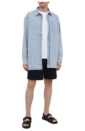 Мужские хлопковые шорты ACNE STUDIOS синего цвета, арт. BE0065 | Фото 2
