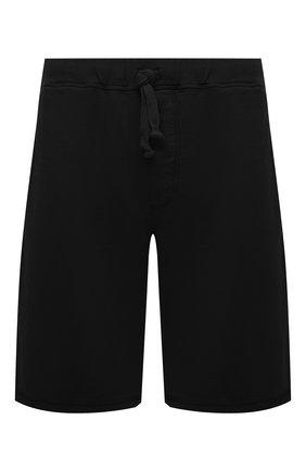 Мужские хлопковые шорты FEDELI черного цвета, арт. 4UED0638 | Фото 1
