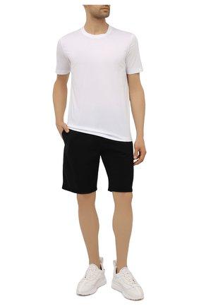 Мужские хлопковые шорты FEDELI черного цвета, арт. 4UED0638 | Фото 2