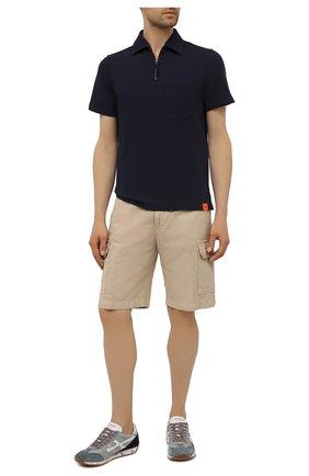 Мужское хлопковое поло ASPESI темно-синего цвета, арт. S1 A AY31 G443 | Фото 2