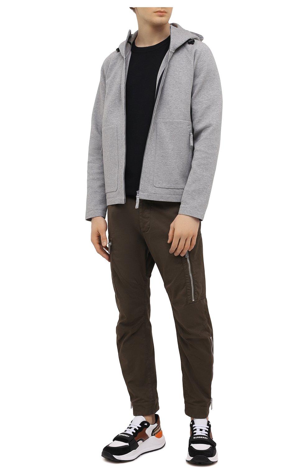Мужской хлопковая толстовка ASPESI серого цвета, арт. S1 A AY66 L565 | Фото 2 (Рукава: Длинные; Мужское Кросс-КТ: Толстовка-одежда; Длина (для топов): Стандартные; Материал внешний: Хлопок; Стили: Спорт-шик)