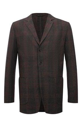Мужской пиджак из хлопка и льна ASPESI коричневого цвета, арт. S1 A CJ01 G403 | Фото 1