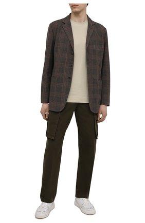 Мужской пиджак из хлопка и льна ASPESI коричневого цвета, арт. S1 A CJ01 G403 | Фото 2