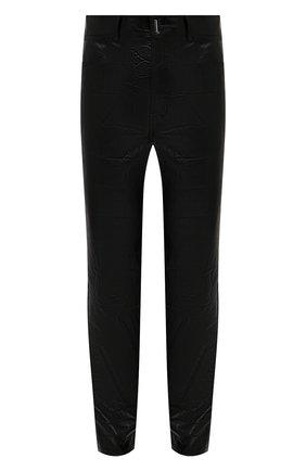 Мужские кожаные брюки GIVENCHY черного цвета, арт. BM50TW6115 | Фото 1