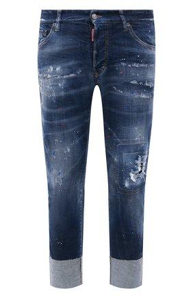 Мужские джинсы DSQUARED2 темно-синего цвета, арт. S71LB0896/S30342 | Фото 1