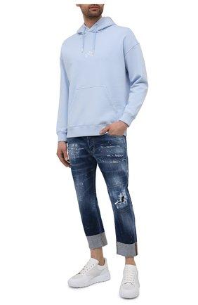 Мужские джинсы DSQUARED2 темно-синего цвета, арт. S71LB0896/S30342 | Фото 2