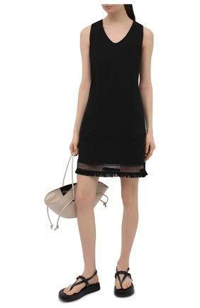 Женское льняное платье LA FABBRICA DEL LINO черного цвета, арт. 10327   Фото 2