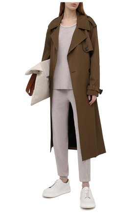 Женские брюки из вискозы FREEAGE бежевого цвета, арт. W22.PT003.7080.103 | Фото 2