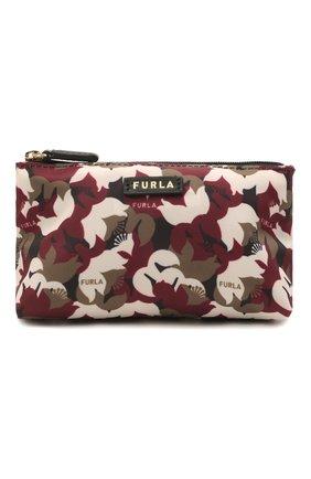 Женская текстильная косметичка digit FURLA коричневого цвета, арт. WE00111/A.0343   Фото 1