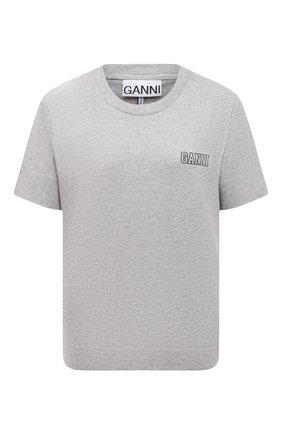 Женская футболка GANNI серого цвета, арт. T2775 | Фото 1