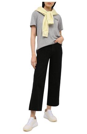 Женская футболка GANNI серого цвета, арт. T2775 | Фото 2