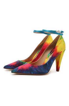 Женские текстильные туфли ALEXANDRE VAUTHIER разноцветного цвета, арт. A0KIPUMPFCN | Фото 1
