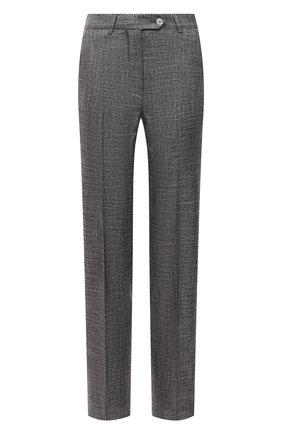 Женские брюки из вискозы KITON серого цвета, арт. D48125K09T11 | Фото 1