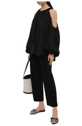 Женские кожаные шлепанцы bianca DOLCE & GABBANA разноцветного цвета, арт. CQ0431/A0325 | Фото 2 (Материал внутренний: Натуральная кожа; Каблук высота: Низкий; Подошва: Плоская)