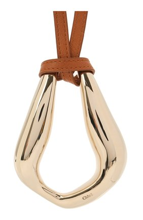 Женская кулон на шнурке CHLOÉ золотого цвета, арт. CHC21UF092C0L | Фото 2 (Материал: Кожа)