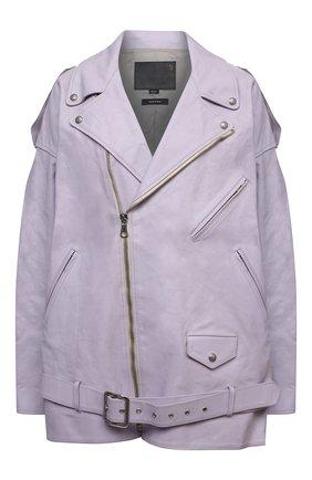 Женская кожаная куртка R13 сиреневого цвета, арт. R13W9376-RLB   Фото 1