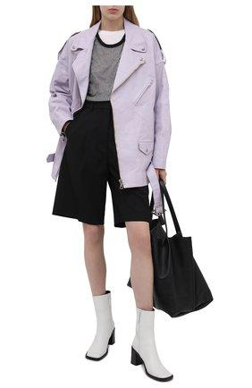 Женская кожаная куртка R13 сиреневого цвета, арт. R13W9376-RLB   Фото 2