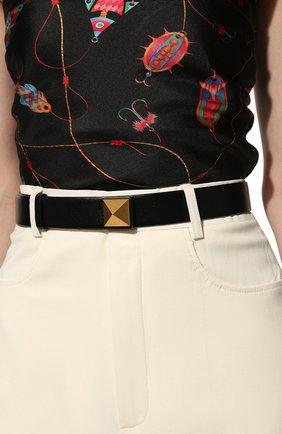 Женский кожаный ремень  VALENTINO черного цвета, арт. VW0T0V41/JKY | Фото 2 (Материал: Кожа)
