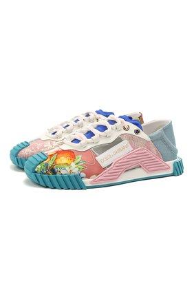 Женские комбинированные кроссовки ns1 DOLCE & GABBANA разноцветного цвета, арт. CK1755/A0671 | Фото 1
