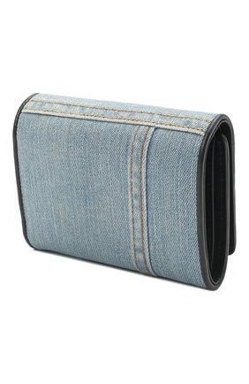 Женские комбинированное портмоне continental  DOLCE & GABBANA голубого цвета, арт. BI1269/A0621 | Фото 2 (Кросс-КТ: другое; Материал: Текстиль)